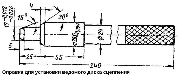 Оправка для сцепления ваз 2110 своими руками 3